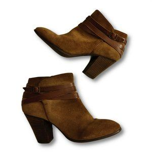 Arturo Chiang Womens Brown Ankle Bootie Size 8